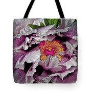 In The Eye Of The Peony Tote Bag