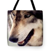 In The Eyes Of The Wolves Tote Bag
