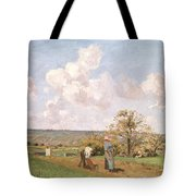 In The Fields Tote Bag by Camille Pissarro