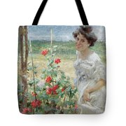 In The Flower Garden, 1899 Tote Bag
