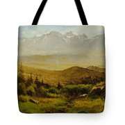 In The Foothills Of The Rockies Tote Bag by Albert Bierstadt