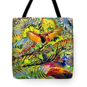 Birds In The Forest Tote Bag
