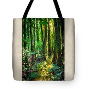 In The Forest With Words Tote Bag