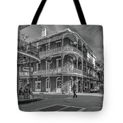 In The French Quarter - 3 Bw Tote Bag