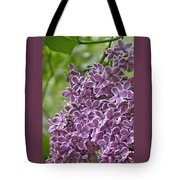In The Garden. Lilac Tote Bag
