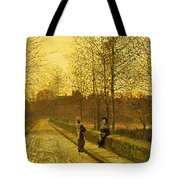 In The Golden Gloaming Tote Bag by John Atkinson Grimshaw