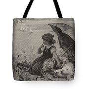 In The Harvest Field, Guardians Of The Luncheon Basket Tote Bag
