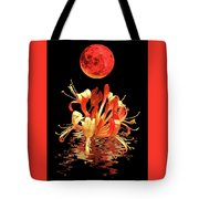 In The Heat Of The Night 2 Honeysuckle Red Moon Tote Bag