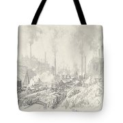 In The Land Of Iron And Steel Tote Bag