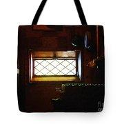 In The Lattice-windowed Attic Tote Bag