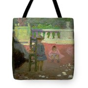 In The Luxembourg Gardens  Tote Bag by Henri Edmond Cross