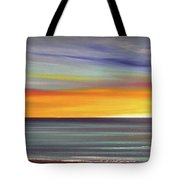 In The Moment Panoramic Sunset Tote Bag