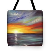 In The Moment Square Sunset Tote Bag