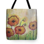 Poppies At Dusk Tote Bag