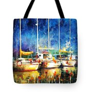 In The Port - Palette Knife Oil Painting On Canvas By Leonid Afremov Tote Bag