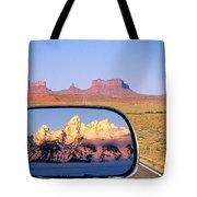 In The Rear View Mirror Tote Bag
