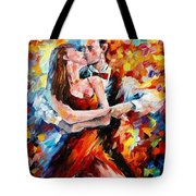 In The Rhythm Of Tango 2 - Palette Knife Oil Painting On Canvas By Leonid Afremov Tote Bag