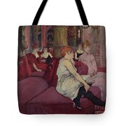 In The Salon At The Rue Des Moulins Tote Bag