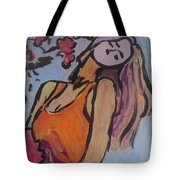 In The Shadow Of The Flowers Tote Bag