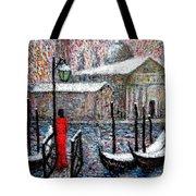 In The Snow In Venice Tote Bag