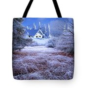 In The Snowy Forest Tote Bag