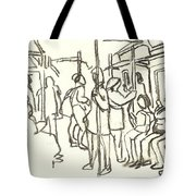 In The Subway, Nyc Tote Bag