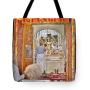 In The Temple Door Tote Bag