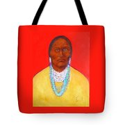 In The Time Of Crazy Horse Tote Bag by Johanna Elik