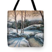 In The Winter In Carpathians.  Tote Bag