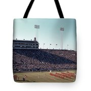 In This Vintage 1955 Photo The University Of Texas Longhorn Band Tote Bag