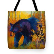 In To Spring - Black Bear Tote Bag