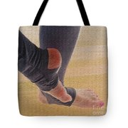 In Warm Up Tights Relaxed Position Tote Bag