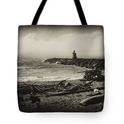 Incoming Fog On The Coquille Tote Bag