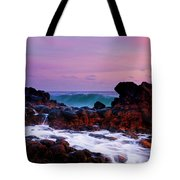 Incoming Wave Tote Bag by Mike  Dawson