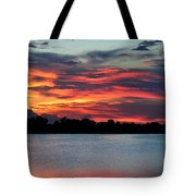 Incredible Red Sky  Tote Bag