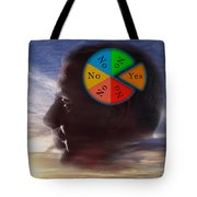 Indecision Yes Or No Tote Bag