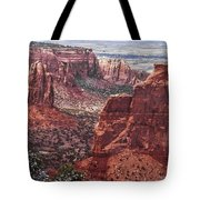 Independence Monument At Colorado National Monument Tote Bag