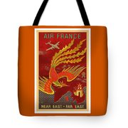 India, China And Japan, The Bird Of Paradise Countries - Air France Vintage Airline Travel Poster Tote Bag