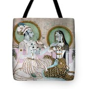India: Couple Tote Bag