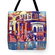 India, Indian State Railway Poster, Muttra Tote Bag
