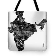 Map Of India-black Tote Bag