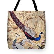 India: Peafowl, C1610 Tote Bag