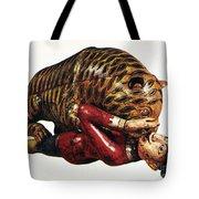 India: Tiger Attack Tote Bag