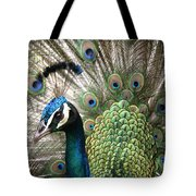 Indian Blue Peacock Puohokamoa Tote Bag