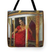 Indian Bride Tote Bag