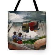Indian Camp - Roberval P Q Tote Bag