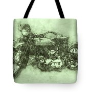 Indian Chief 3 - 1922 - Vintage Motorcycle Poster - Automotive Art Tote Bag