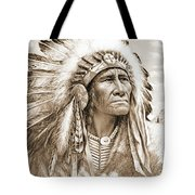 Indian Chief With Headdress Tote Bag