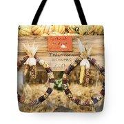 Indian Corn Wreaths Tote Bag