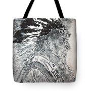 Indian Etching Print Tote Bag